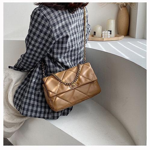 Luxe Paris Chain Bag - Brown