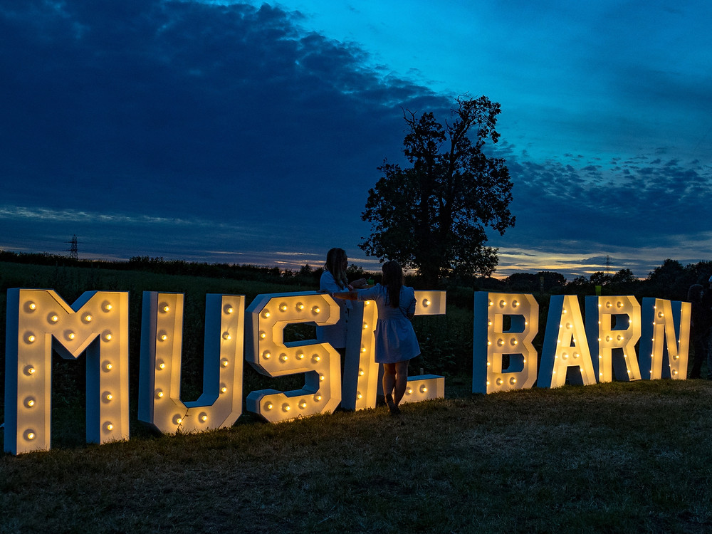 Sunset at the Music Barn in 2018