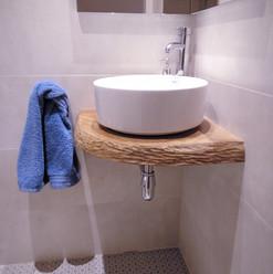 Lavabo en madera natural