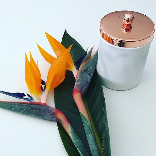 Rose Gold & Marble Canister