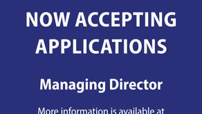 Now Accepting Applications: Managing Director