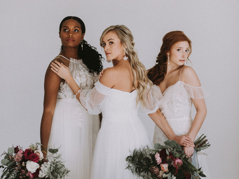 Thine Wedding Magazine Shoot- The Three Graces