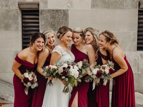 Burgundy Fall wedding