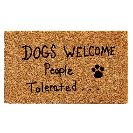 """""""Dogs Welcome"""" Mat"""