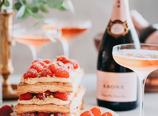 Celebrate the arrival of spring with Krone vintage Rosé Cuvée Brut 2018 & classic French Mille-Feui