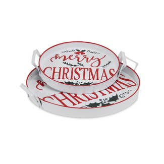 Merry Christmas Trays (Set of 2)