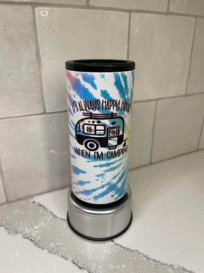 Always Happy Hour Camping Slim Can Cooler
