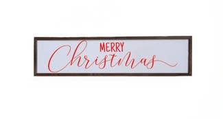 Merry Christmas Wood Sign