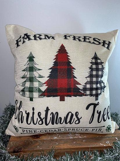 Farm Fresh Christmas Trees Buffalo Pillow
