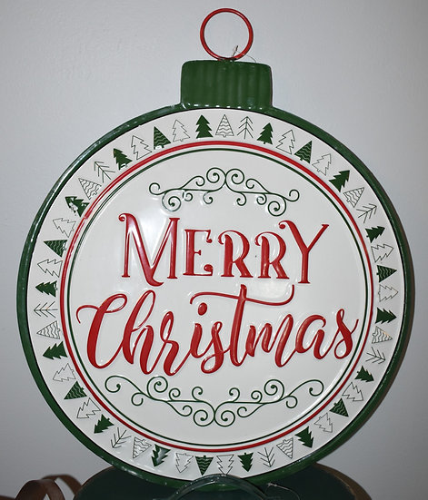 Merry Christmas Ornament- Hanging Sign