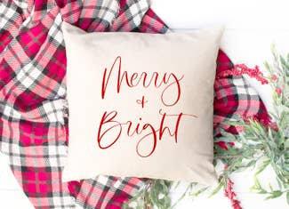 Merry & Bright Pillow