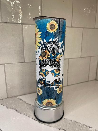 Mom Life Sunflower Tumbler