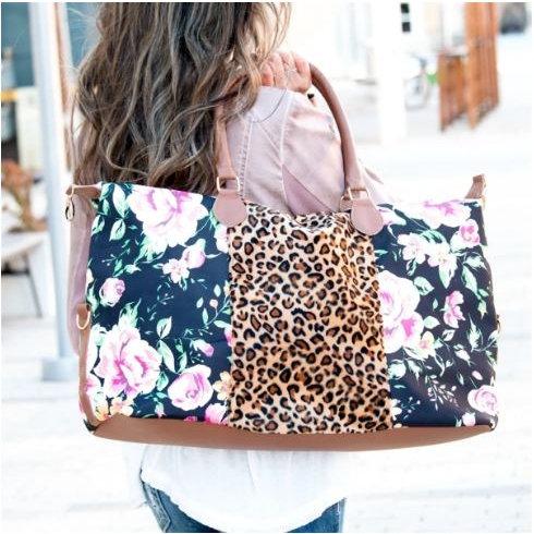Floral/Cheetah Weekender
