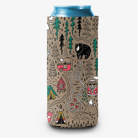 Camp Color Slim Can Cooler