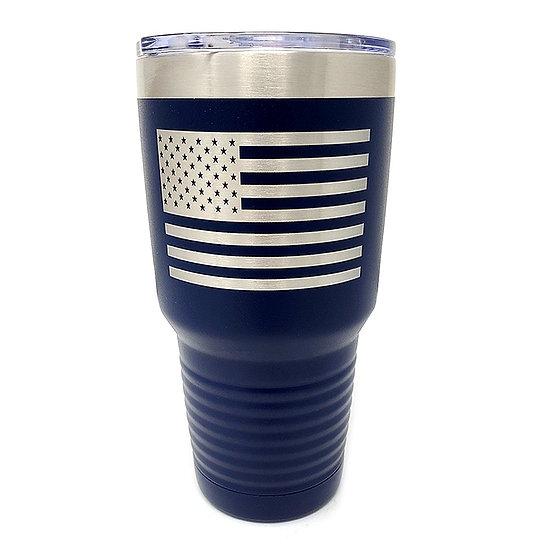 American Flag Tumbler