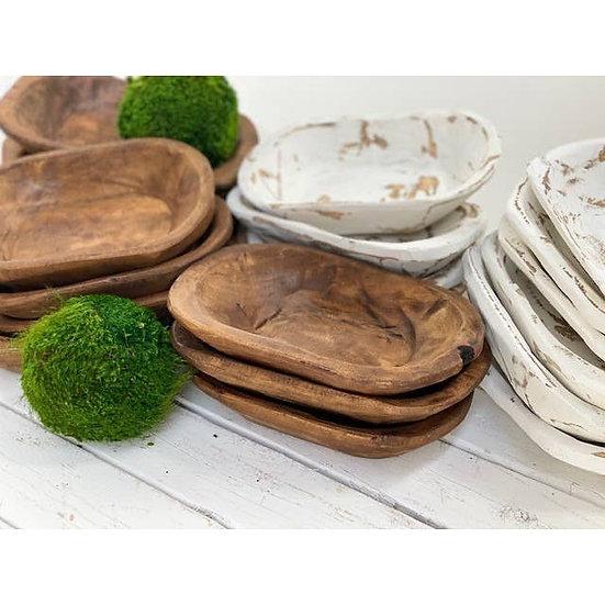 Petite Carved Wood Bowl