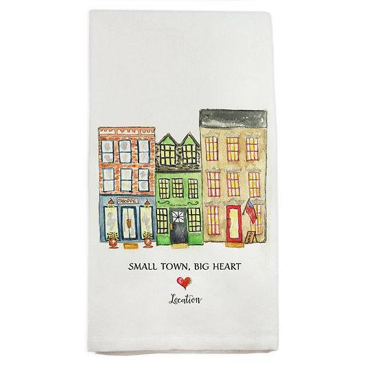 """Small Town, Big Heart"" Towel"