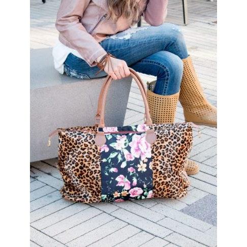 Cheetah/Floral Weekender