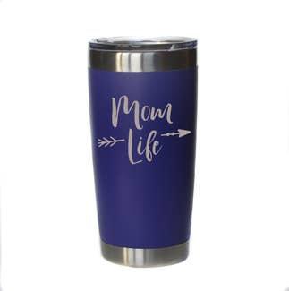 Mom Life Mug w/ Lid (Purple)