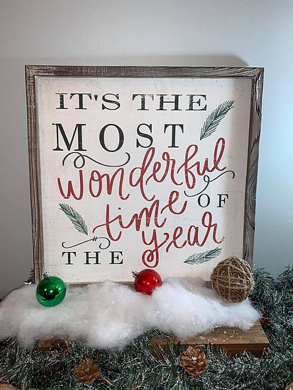 Most Wonderful Time wood sign