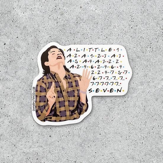 Monica 7 Erogenous Zones Sticker