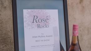 Darling Cellars Pyjama Bush Rosé wins the Allan Mullins award for best in show at Rosé Rocks 2021