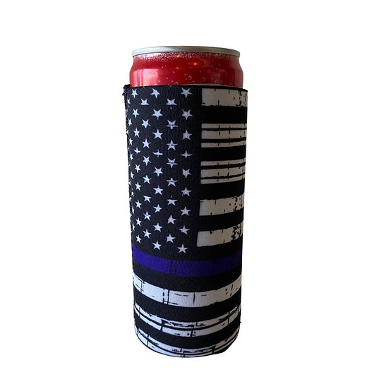 Thin Blue Line Slim Can Cooler