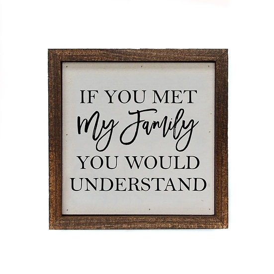 """""""My Family"""" Wood Sign"""