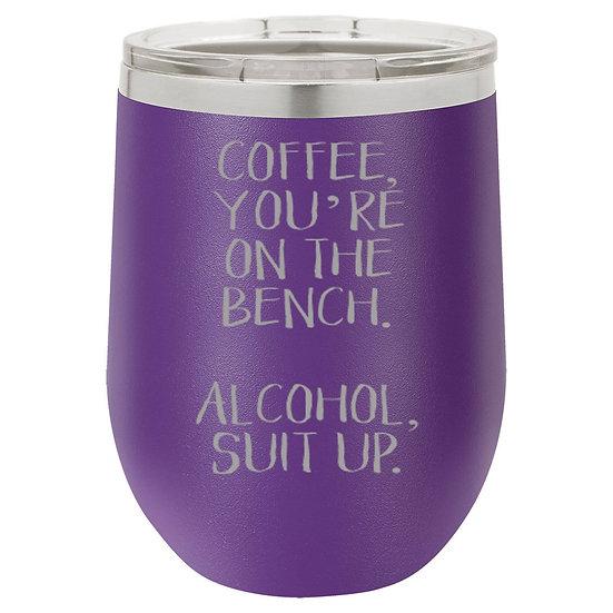 Alcohol Suit Up Mug w/ Lid