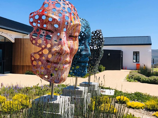 Benguela Cove Lagoon Wine Estate launches sculpture park and gallery in Collaboration with artist an