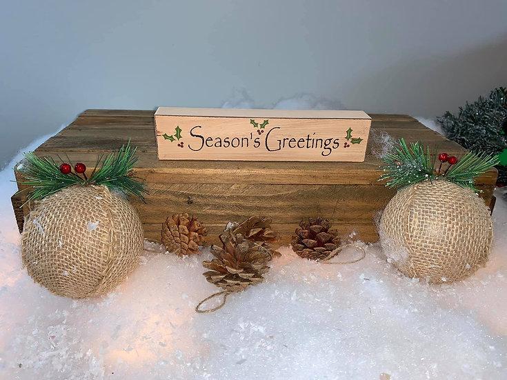Season's Greetings Block Sign