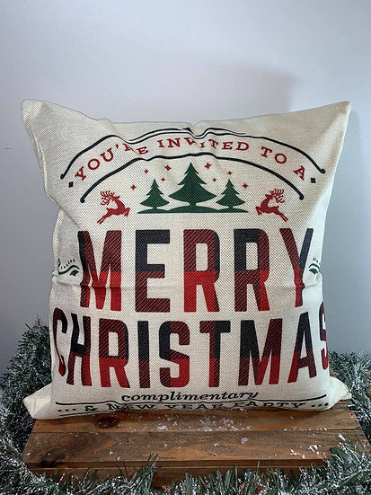 You're invited Merry Christmas Pillow