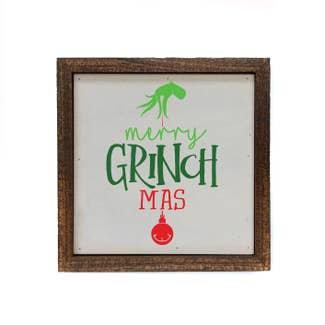 Merry Grinchmas Wood Sign