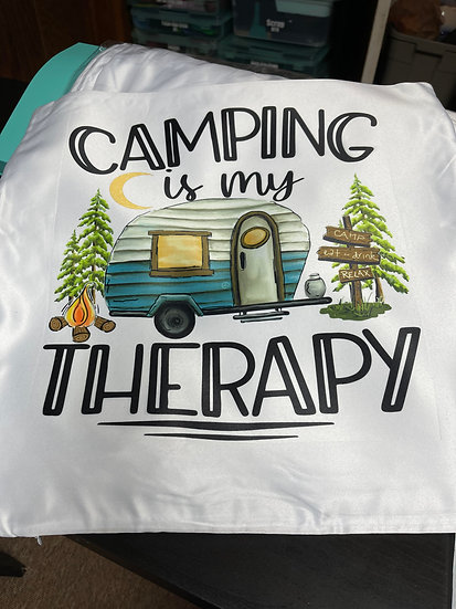 Camping Therapy Pillow Case