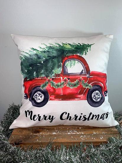 Red Truck Pillow