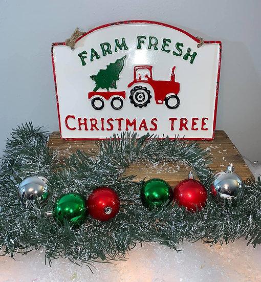 Farm Fresh Christmas Tree hanging sign