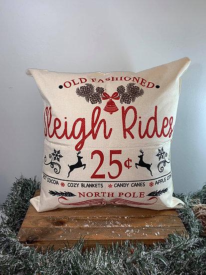 Sleigh Rides Pillow
