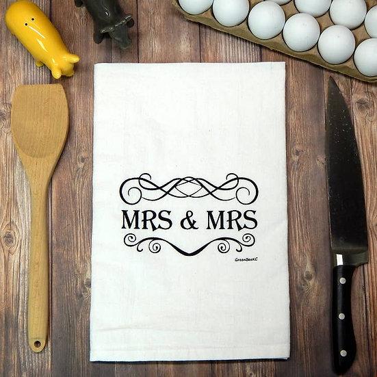 """Mrs & Mrs"" Towel"