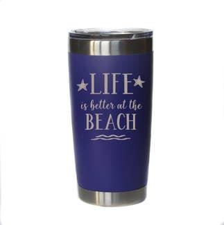Life is better at the Beach Mug w/ Lid (Purple)