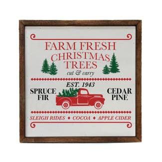 Farm Fresh Christmas tree wood sign