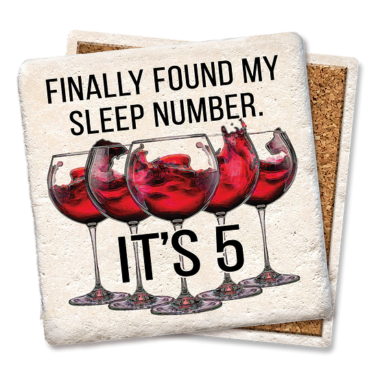 """""""Sleep number"""" Coaster"""