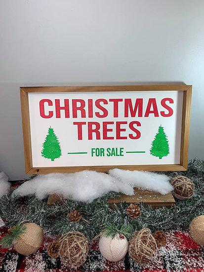 Christmas Trees Wood Sign