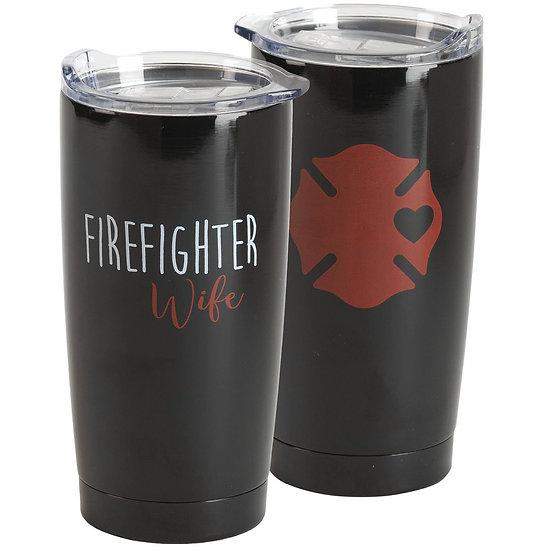 """Firefighter Wife"" Tumbler"