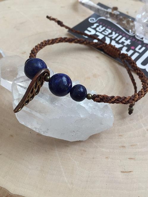 Lapis Lazuli Macrame Anklet