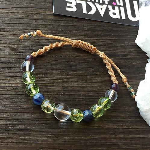 Variety Crystal Macrame Bracelet