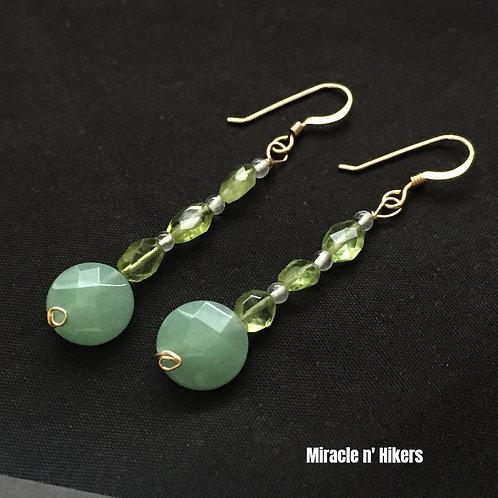Peridot & Jede Earrings