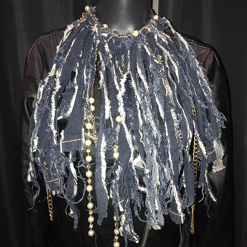 Gold & Pearls  Fringe Jean Necklace