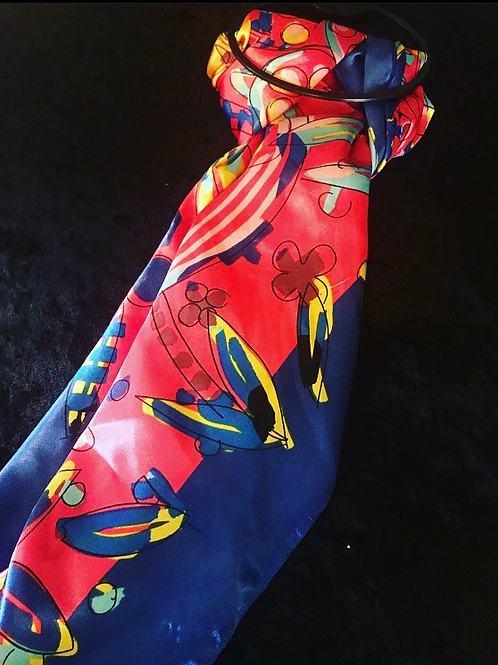 Blue Floral Fashion Scarf (Large)