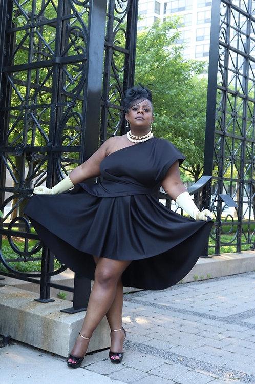 Couture Cold Shoulder Dress