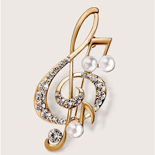 The Perfect Note Brooch